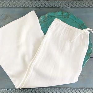 J. Crew | NWOT 100% Linen White Maxi Shirt | XL